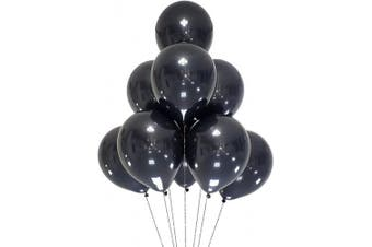 (12 Inch / 30 cm, Black) - AZOWA 100 Pcs Black Latex Balloons 30cm Party Balloon Decoration for Wedding Baby Shower Engagement Birthday Bachelor Party Decorations