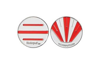 Vectorputt USGA Approved Golf Ball Marker tm Double Sided Golf Ball Marker with hat Clip (30mm)
