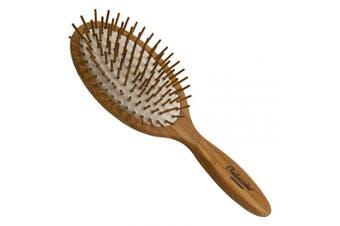Ambassador Hairbrush, Ashwood Large Oval, Wood Pins, 1 Hairbrush