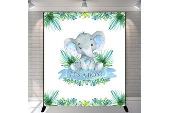(Elephant Baby Shower) - Mehofoto Elephant Baby Shower Backdrop It's A Boy Peanut Baby Shower Photography Background 1.5m x 1.8m Vinyl Baby Shower Party Banner Decoration