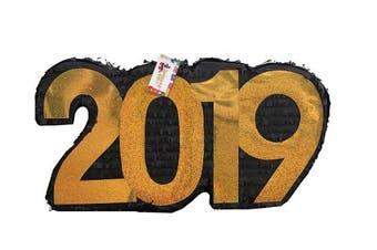 APINATA4U 2019 New Year's Pinata Black & Gold Colour