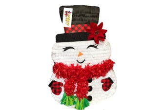 APINATA4U Christmas Snowman Pinata with Plaid Accents