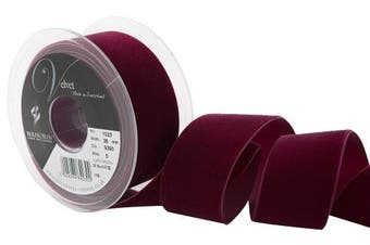 Berisfords Velvet Ribbon, Bordeaux, 102 x 45 x 102 cm