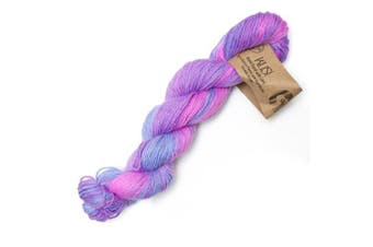 (Rose-lilac Blue/Pink/Citrus) - Alpaca Select KUSI 4 Ply Hand-Dyed Knitting Wool Yarn Colour 03 Rose