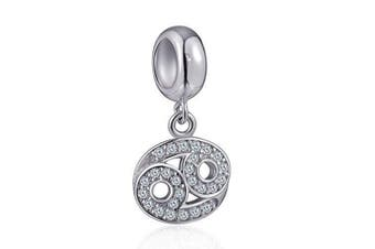 (Cancer (6/22~7/22)) - Cancer Zodiac Sign Charms for Pandora Charm Bracelets - 925 Sterling Silver Necklace Pendants, 12 Constellation/Horoscope Star Dangle - Dangling Birthstone Beads, Birthday Gifts Women/Men/Girls/Boys.