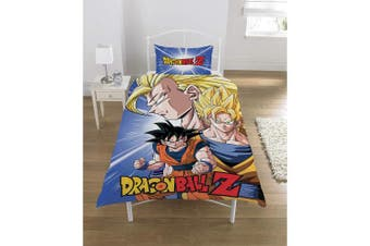 (Single, Multicolour) - Dragon Ball Z Duvet Set, POLYCOTTON, Multi, SINGLE