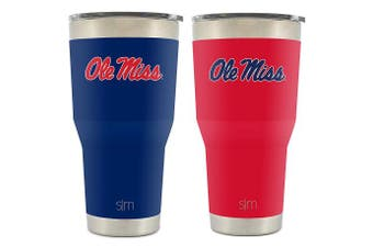 (890ml Cruiser, Ole Miss) - Simple Modern Collegiate Cruiser Tumblers - Vacuum Insulated 18/8 Stainless Steel Travel Mug - Coffee Cup Tailgate Flask