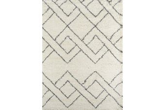 (0.6m x 0.9m) - Momeni Rugs Maya Collection, Ultra Thick Pile Shag Area Rug, 0.6m x 0.9m, Ivory