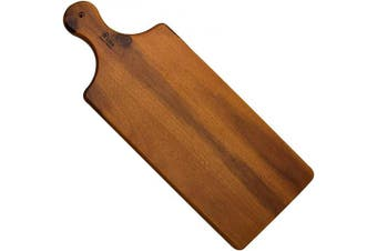 (Cheese Board) - Acacia Wood Cutting Board, AIDEA Cheese Board Serving Tray with Handle - 43cm Natural Acacia Hardwood Long Chopping Board for Kitchen Reversible Rustic Serving Platter for Charcuterie Appetisers