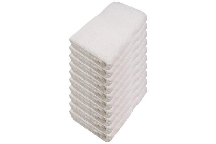 (30 x 50 cm, Natural White) - Miamar Hand Towel Set 15 Colours Available Soft Absorbent 500g/m2 100% Cotton Oeko-Tex, Cotton, natural white, 30 x 50 cm