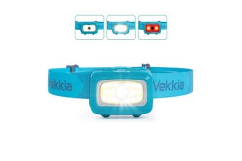 Vekkia CREE COB Bright Head Torch,260 Lumen headlamp, 6 Lighting Modes,White & Red Lights,Portable,Adjustable,Waterproof,Great for Hiking Running Fishing Hunting Working Outdoor,Batteries Included