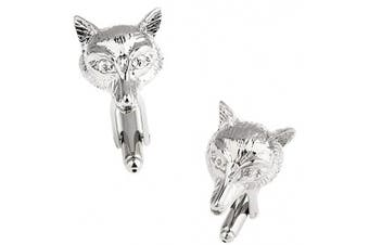 Ashton and Finch Fox Cufflinks in a Free Luxury Presentation Box. Novelty Hunting Shooting Animal Theme Jewellery