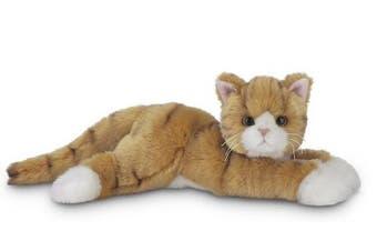 "Bearington Tabby Plush Stuffed Animal Orange Striped Tabby Cat 15"""