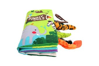 (Mr16) - Beiens My Quiet Books 8 animals - Ultra Soft Baby Books Touch and Feel Cloth Book, 3D Tails Books Fabric Activity for Baby /Toddler, Learning to Sensory Book、Identify Skill Boys and Girls