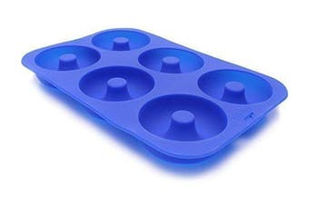 (26cm  X 18cm , Blue) - LETOOR Donut Pan Non-Stick Mould, Bake Full Size Perfect Shaped Doughnuts to Sweeten YourHole Day, 26cm X 18cm , Blue