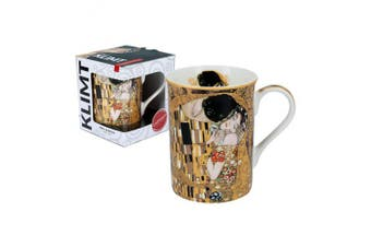 CARMANI - Classic Mug Decorated with Gustav Klimt 'The Kiss' 420ml