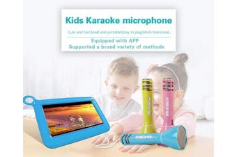 (Pink) - Kids Microphone Wireless Portable Karaoke Speaker Bluetooth Handheld Karaoke Machine Sing Equipment for Party/Home/Outdoors Kids Birthday Gift Compatible with Android/IOS Smartphone and Pad (Pink)