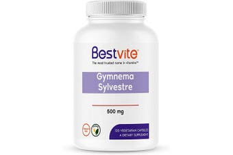(120 Vegetarian Capsules) - Gymnema Sylvestre 500mg (120 Vegetarian Capsules) - Standardised to 75% Gymnemic Acid - No Stearates - No Fillers - No Flow Agents- Vegan - Non GMO - Gluten Free