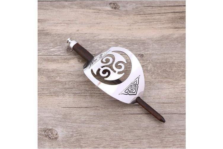 Lurrose Vinatge Alloy Celtic Hair Clip with Wooden Slide Hair Stick Hair Pins for Women Long Hair Buns Chignon Maker
