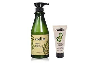 Codi Olive Hand and Body Lotion Big and Small Kit, 750ml/25oz + 3.3oz/100ml