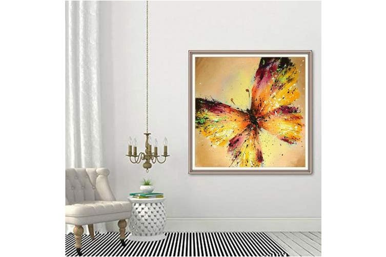 (Butterfly) - 5D Full Drill Diamond Painting Kit, DIY Diamond Rhinestone Painting Kits for Adults and Children Embroidery Arts Craft Home Decor 41cm by 41cm (Butterfly)