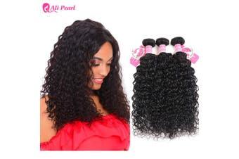 (12 14 16) - AliPearl Water Wave Hair Weave 3 Bundles Unprocessed Brazilian Virgin Human Hair Natural Wave 3 Bundles Lot Grade 8A Natural Colour Remy Hair Extension(12 14 16)
