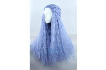 (Blue) - Angelaicos Women's 70cm Lolita Fluffy Wavy Party Sexy Hair Full Wig Long (Blue)