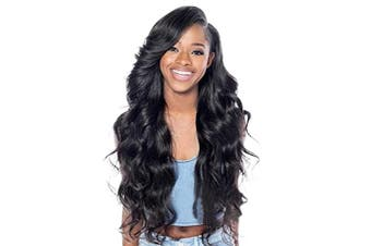 (Natural Black 8031) - BARSDAR 70cm Natural Black Long Wavy Curly Wig Rose Net Full Head Wigs for Women Side Part Heat Resistant Synthetic Wigs with Light Bangs (8031)
