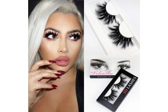 (145A) - Veleasha High Volume Mink Lashes Cruelty-free 25mm Long 3D Eyelashes Dramatic Look for Makeup (145A)/False Eyelashe