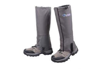 (Dark Grey, L) - Azarxis Hiking Gaiters Leg Guard Cover Boot Snow Leggings for Women Men Ladies Lightweight Waterproof Breathable Durable Walking Outdoor Research