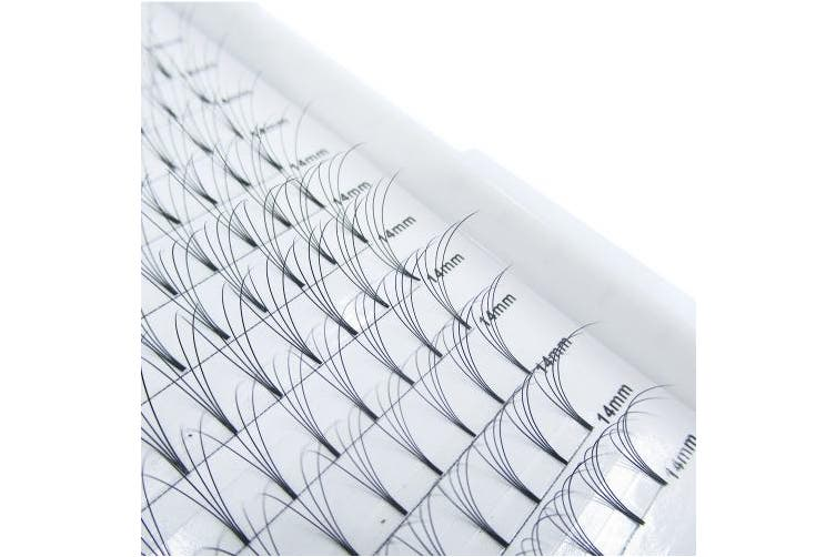 (4D-D-0.10, 14 mm) - Premade Fans Eyelash Extensions 4D 12 Rows/Tray Short Stem Russian Volumes Lashes Extensions0.07/0.10 mm C/D Curl 9-14mm Individual Eyelash (4D-D curl-0.10mm, 14 mm)