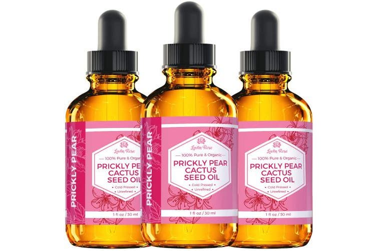 Prickly Pear Cactus Seed Oil (Barbary Fig) by Leven Rose 100% Pure Organic, Extra Virgin, Cold Pressed, All Natural Face, Dry Skin & Body Moisturiser and Damaged Hair Treatment 30ml