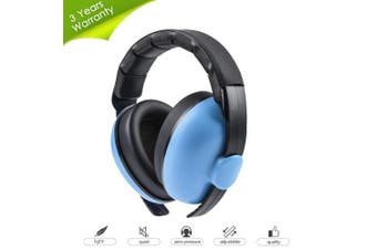 (blue) - HOODO Baby Headphones Noise Cancelling Headphones for Babies,Baby Earmuffs,Hearing Protection Headphones,Baby Ear Protection–Ages 0-2 Years