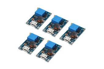 HALJIA 5 PCS 2A Booster Board DC-DC Step Up Power Module Input 2-24V To 5V 9V 12V 28V With Micro USB For Arduino