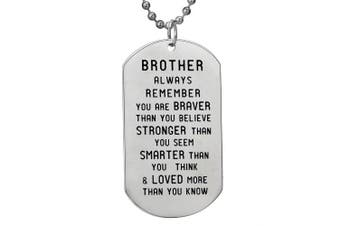 BESPMOSP Brother Inspiration Necklace You Are Braver Stronger Than You Believe Family Jewellry