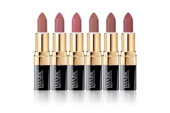 (6 color set light) - CCbeauty 6 Colours Lipsticks Set Matte for Girls Women Waterproof Long-Lasting Moisturising Makeup Lipsticks,Nude and Natural Colour Light