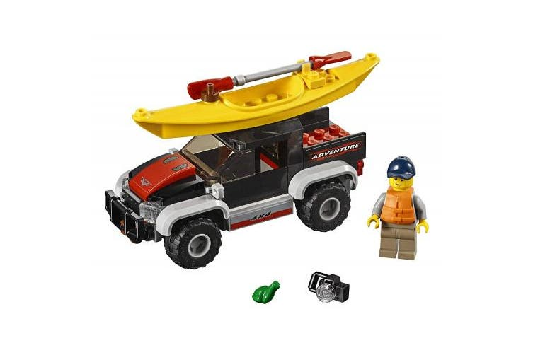 LEGO City Great Vehicles Kayak Adventure 60240 Building Kit (84 Piece)
