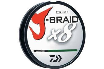 (darkgreen, 8lbs) - Daiwa J-Braid 300M 8-Strand Woven Round Braid Line