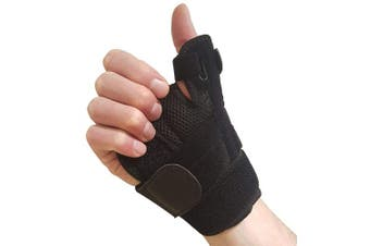 Thumb Brace with Wrist Support – Thumb Splint for Carpal Tunnel, Arthritis or Tendonitis Pain Relief. Thumb Stabiliser Fits Left or Right Hand. Thumb Spica Splint Immobiliser for Men or Womens Hands
