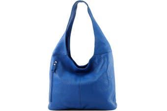 (T166 Blau) - modamoda de - ital. Leather bag Shoulder bag Shoulder bag Ladies bag Genuine leather T166
