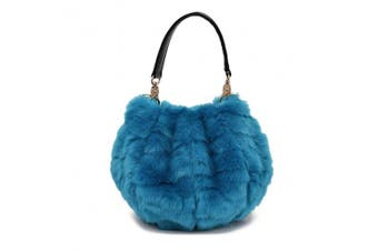 (A7) - Abuyall Women Faux Fur Handbag Design Cute Gifts Winter Warm Shoulder Bag A7