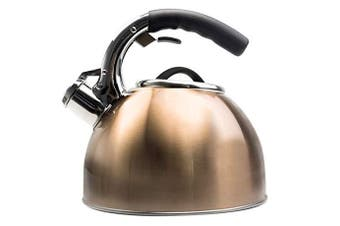 Primula PTKC-6330 Soft Grip 2.8l Whistling Copper Stainless Steel Tea Kettle