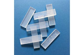Reusable Clay Mould Making Only Use Hot Water. Eco package (Clear White, 8pcs)