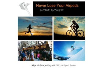Airpods Strap, iAbler Airpods Magnetic Strap iPhone 8/8 Plus/X/7/iPhone 7 Plus AirPods Sports Strap Wire Cable Connector for Apple Airpods Like a Necklace with Your AirPods.