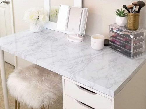 (45x200cm) - 45 cm × 200 cm Marble Contact Paper Self Adhesive PVC Material DIY Upgrade Self Adhesive Vinyl Stickers Film Marble Wallpaper for Furniture Sticky Marble Paper Marble Sticky Back Plastic Shelf Liner Colour: 45×200cm