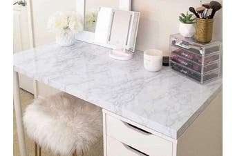 (45x200cm) - 45 cm × 200 cm Marble Contact Paper Self Adhesive PVC Material DIY Upgrade Self Adhesive Vinyl Stickers Film Marble Wallpaper for Furniture Sticky Marble Paper Marble Sticky Back Plastic Shelf Liner