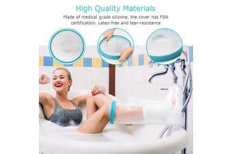 """(Adult Leg 24"""") - Waterproof Leg Cast Cover for Adult Shower Bath, Cast Protector Keep Cast Bandage Dry, Watertight Cast Bag for Wound Foot Ankle Orthopaedic Boot, Half Leg Size 60cm"""