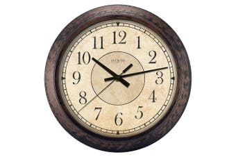(Rustic Brown) - Lacrosse 404-2635 Analogue Wall Clock, 36cm , Rustic Brown