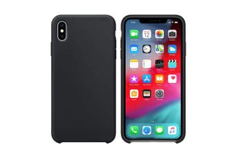 (Black) - iPhone X Case, iPhone X Silicone Case, Xperg Slim Liquid Silicone Gel Rubber Shockproof Case Soft Microfiber Cloth Lining Cushion Compatible with iPhone X (Black)