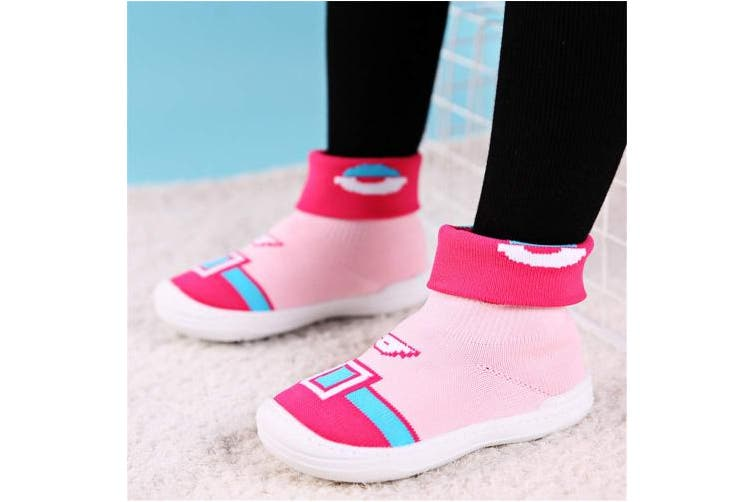 (7.5 UK Child, Pink) - wyhweilong Baby First-Walking Shoes Soft Mesh EVA Rubber Sole (3.5~8 UK)